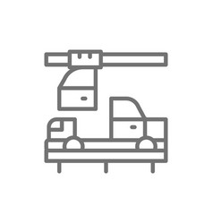 Chinese car industry automotive factory line icon vector