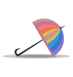 Clipart an appealing folded colorful rainbow vector