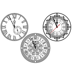 Clock face collection vector