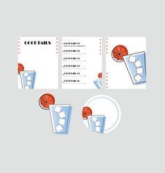 Cocktail catalogue and coaster - night bar vector