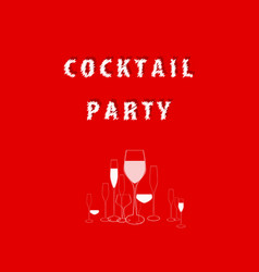 Cocktail party red vector