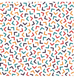 Colorful seamless memphis pattern with mosaic vector