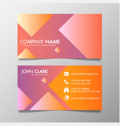 creative design modern of business card vector image