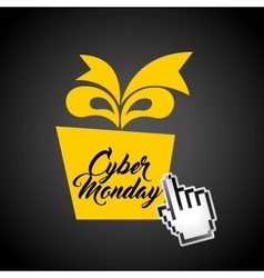 Cyber monday sale commerce vector