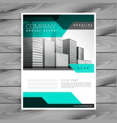 elegant company leaflet business brochure vector image