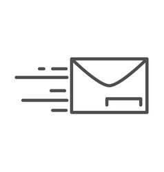 Fast mail envelope address postal delivery line vector