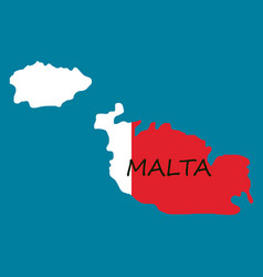 Flag map of malta vector