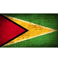Flags Guyana with dirty paper texture vector image