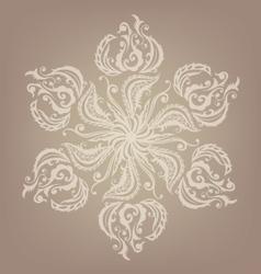 Floral oriental mandala design vector