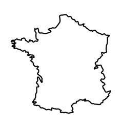 France map silhouette vector