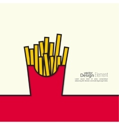 French fries in paper box vector