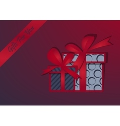Gifts background Happy Christmas Box with a vector