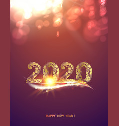 Gold template over purple background with golden vector