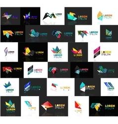 Grow up arrow origami abstract logo design vector