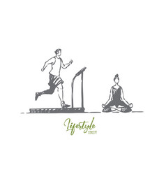 gym yoga sport exercise health concept vector image