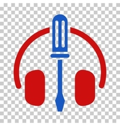 Headphones tuning screwdriver icon vector