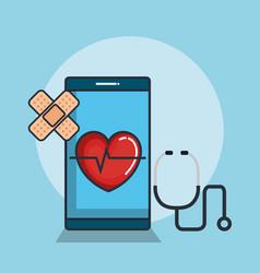 health medicine online icons vector image