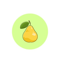 Icon Colorful Pear vector image