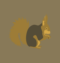 in flat style squirrel vector image