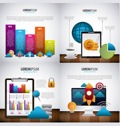infographic statistics analysis vector image