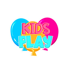 kids zone comic text badge on splash sticker vector image