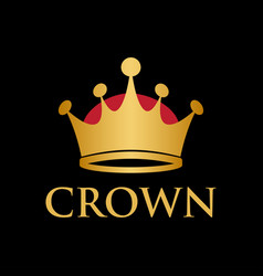 king queen crown logo design template vector image