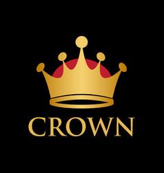 king queen crown logo design template vector image