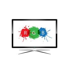 LED Television - Design vector image