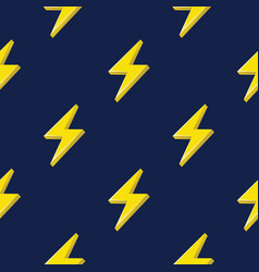 lightning or thunderbolt pattern on the dark blue vector image