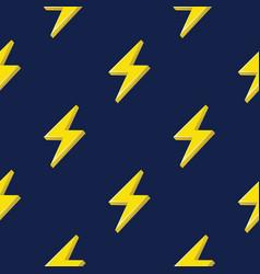Lightning or thunderbolt pattern on the dark blue vector