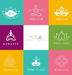 Logo for a yoga studio vector