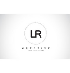 lr l r logo design with black and white creative vector image
