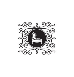 luxury furniture chair logo vector image
