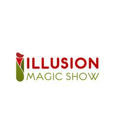 Magic show letter i icon vector