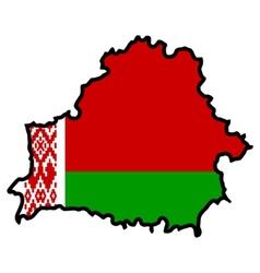 Map in colors of Belarus vector