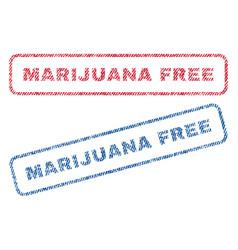 Marijuana free textile stamps vector