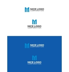 melody logo letter m vector image
