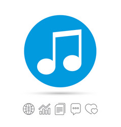 Music note sign icon musical symbol vector