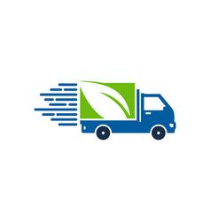 nature delivery logo icon design vector image