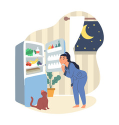 obesity and weight problems hungry overweight vector image