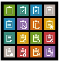 office document icon vector image