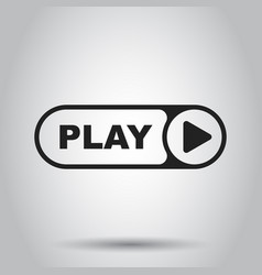 play icon play video in flat style simple vector image