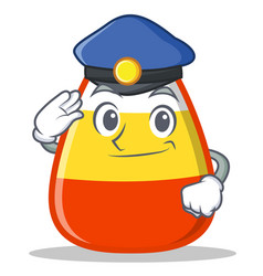 Police candy corn character cartoon vector