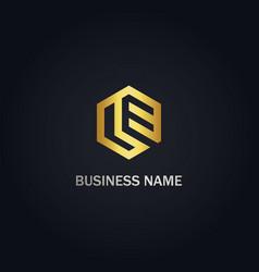 polygon line business logo vector image