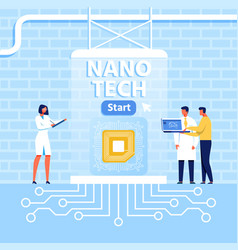 presentation for nano tech center in loft style vector image