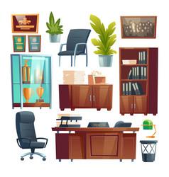 principal school office furniture and stuff set vector image
