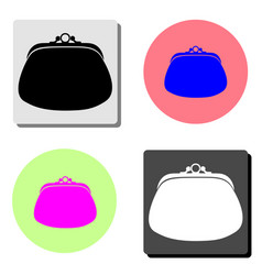 purse flat icon vector image