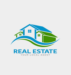 real estate houses logo design vector image