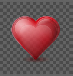 red heart on background with transparent effect vector image