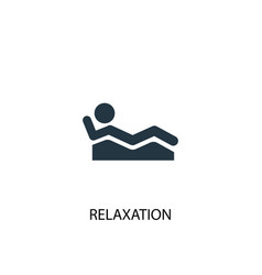 Relaxation icon simple element vector